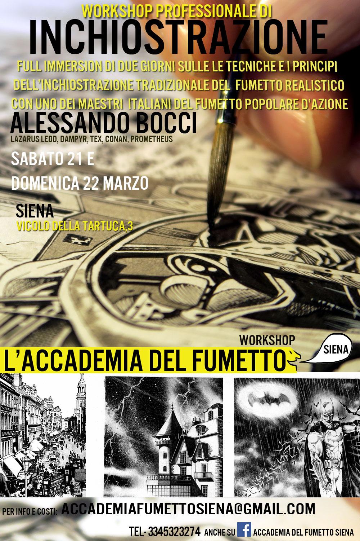 Prossimi Workshop e Incontri dell'Accademia del Fumetto Siena